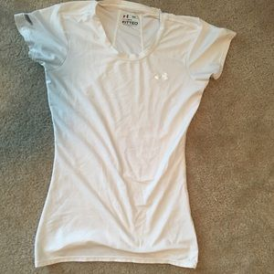 White Under Armour shirt
